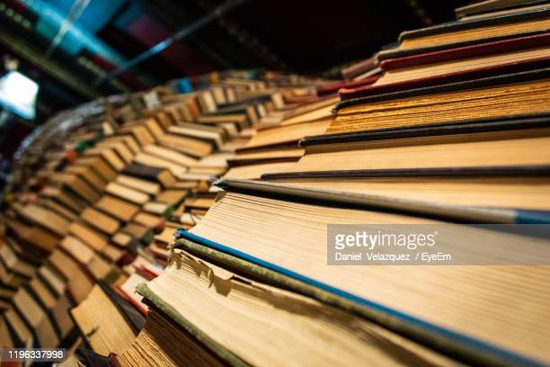 stack of books at store - the last bookstore los angeles stock pictures, royalty-free photos & images