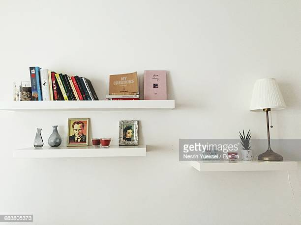 Stack Of Books In Shelf