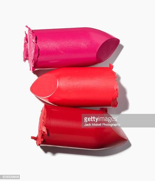 Stack of broken lipstick