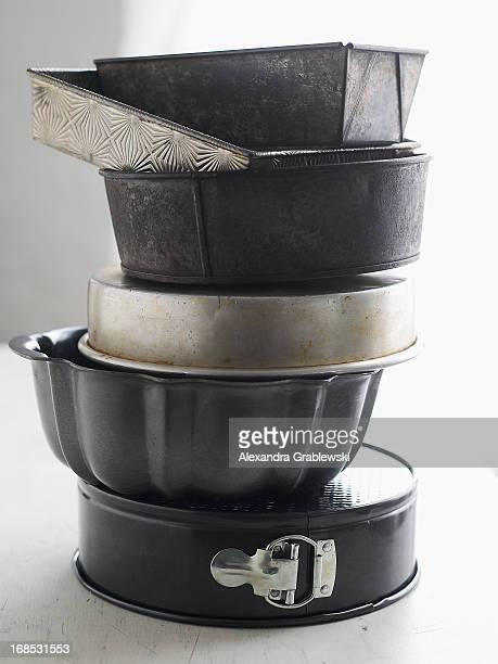 Stack of Cake Pans
