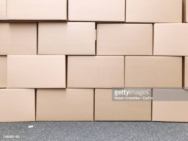Stack Of Cardboard Boxes At Warehouse