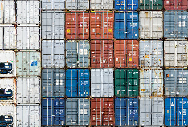 Stack of cargo containers (full frame)