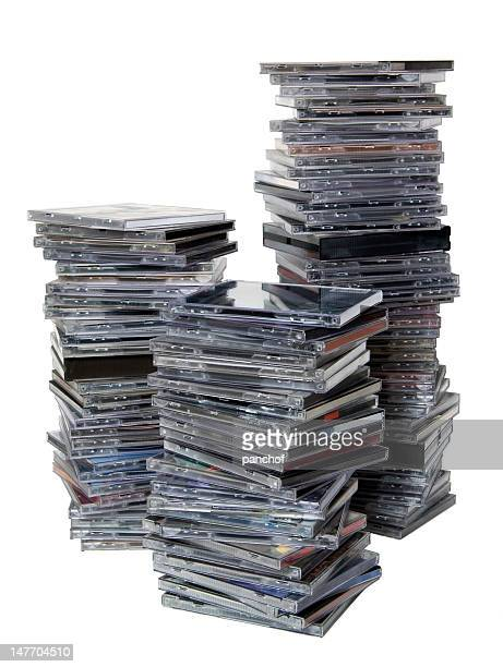 stack of cds box - compact disc stock pictures, royalty-free photos & images