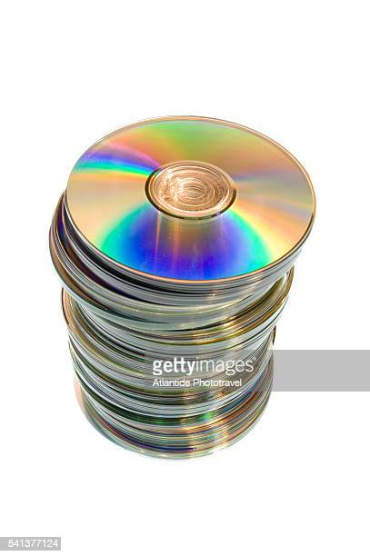 stack of cds - compact disc stock pictures, royalty-free photos & images