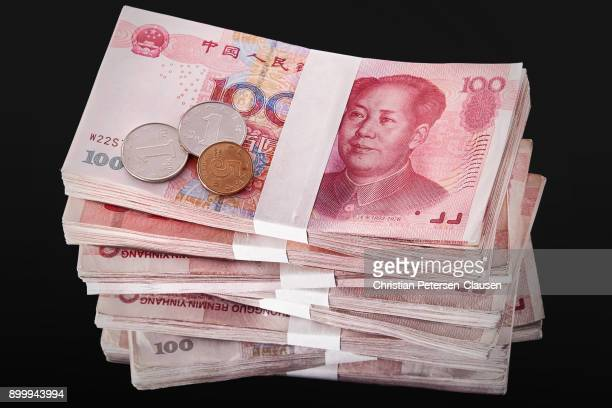 Stack of Chinese RMB Paper Currency