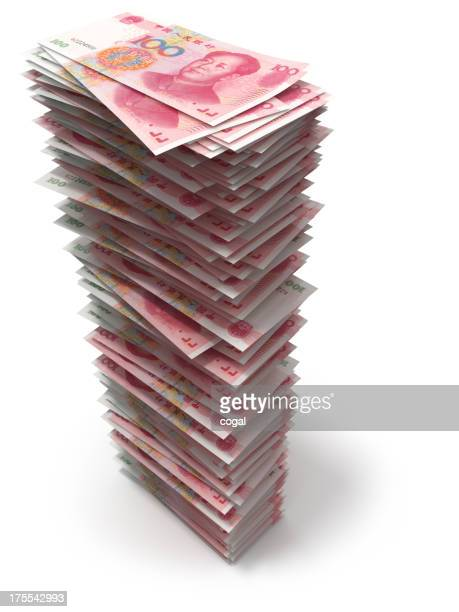 Stack of Chinese Yuans