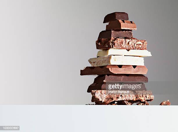 Stack of chocolate bars