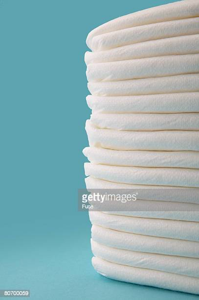 Stack of Clean Diapers