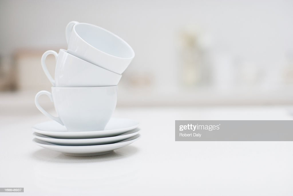 Stack Of Coffee Cups Stock Photo