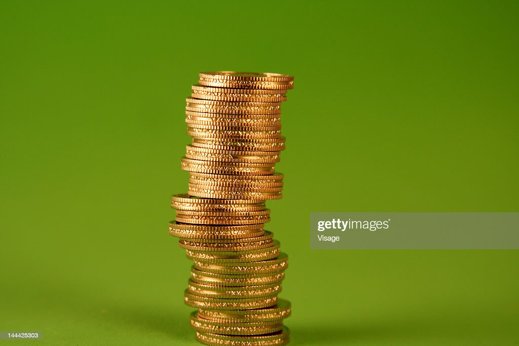 A Stack Of Coins Studio Shot Stock Photo - Getty Images