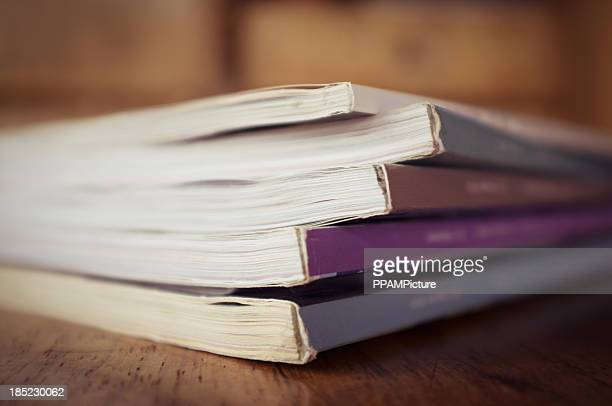 stack of color magazine - publication stock pictures, royalty-free photos & images