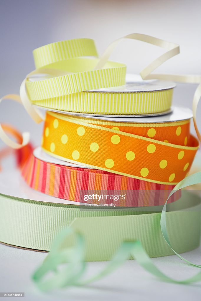 Stack of Colorful Ribbon : ストックフォト