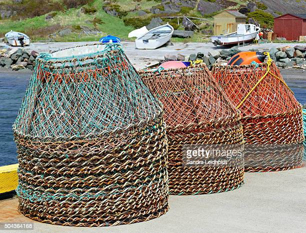 Stack of Crab Traps in Keels, Bonavista Bay, Newfoundland