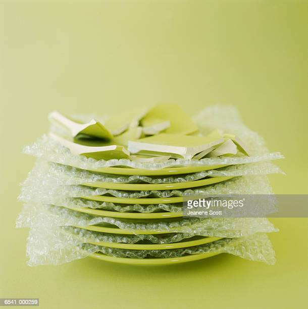 Stack of Damaged Plates