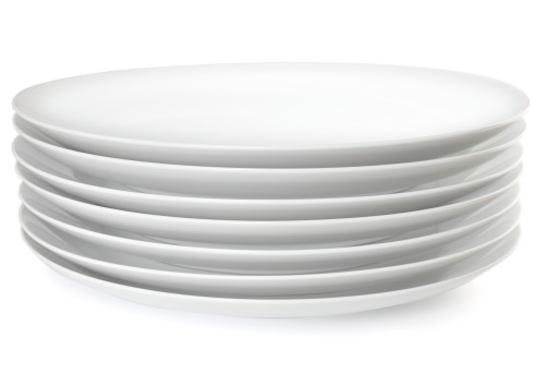 Stack of dinner plates 172791298