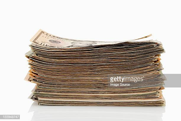 stack of dollar banknotes - stack stock pictures, royalty-free photos & images