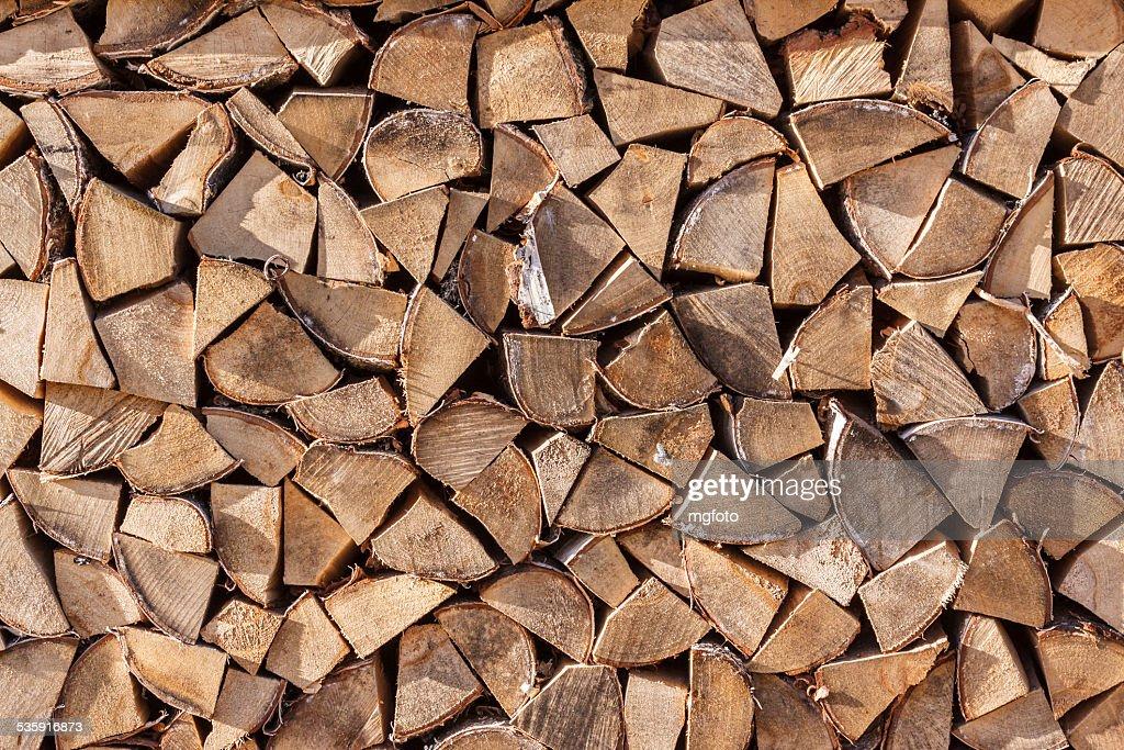 Pila de leña : Foto de stock