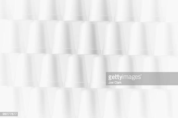 Stack of foam cups