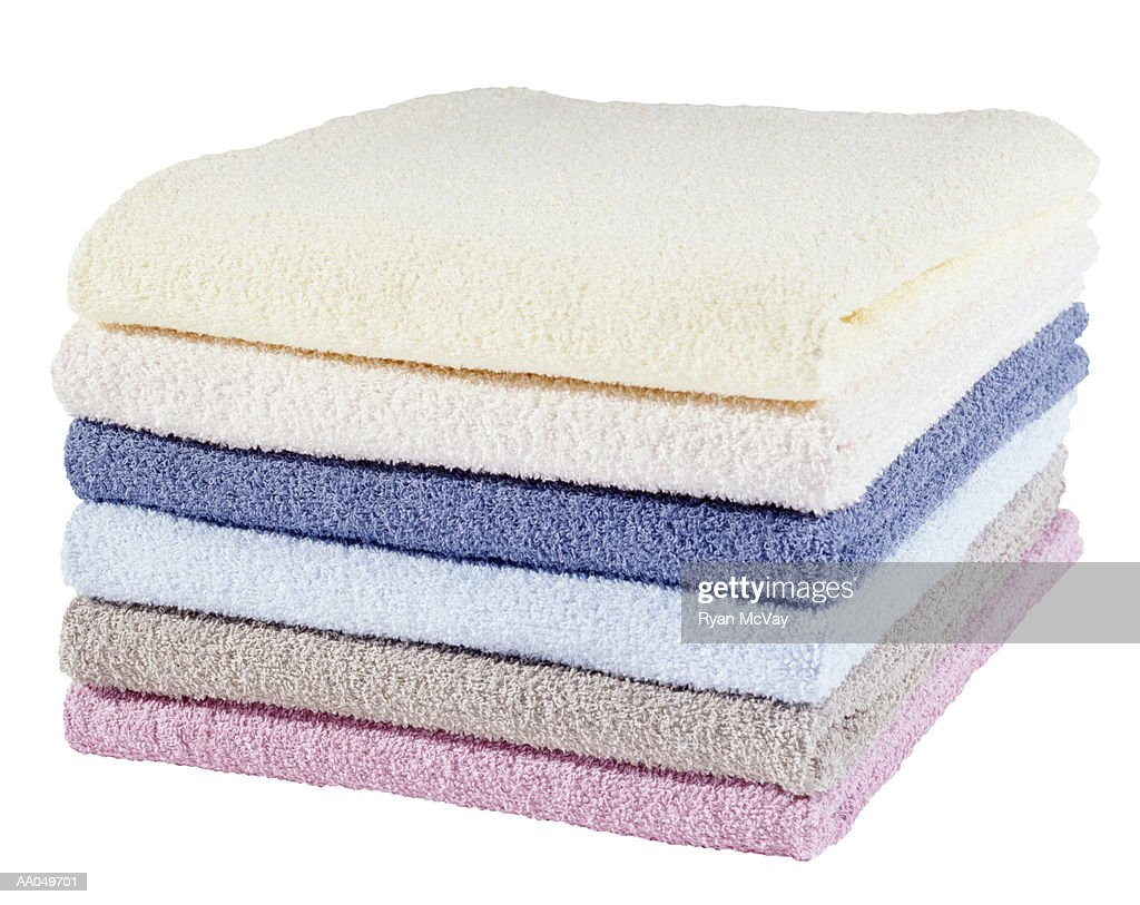 Stack of Folded Towels : Stock Photo