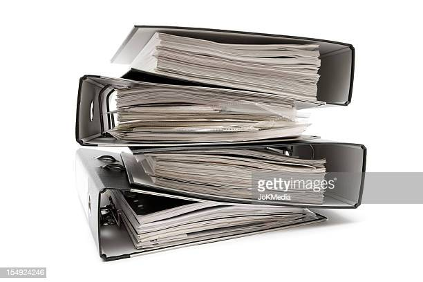 Stack of Four Ring Binders