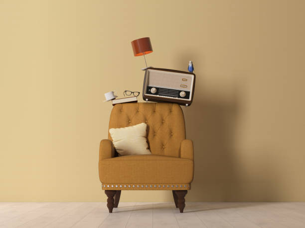 stack of furnitures, Retro style
