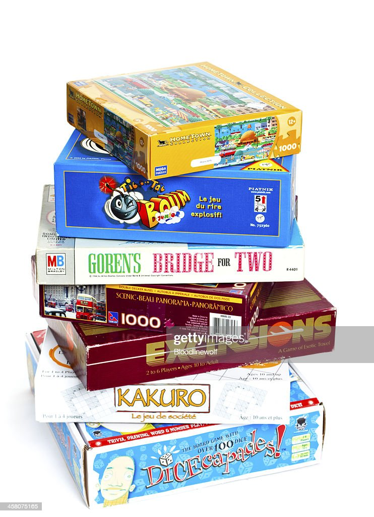 Stack of Games : Stock Photo