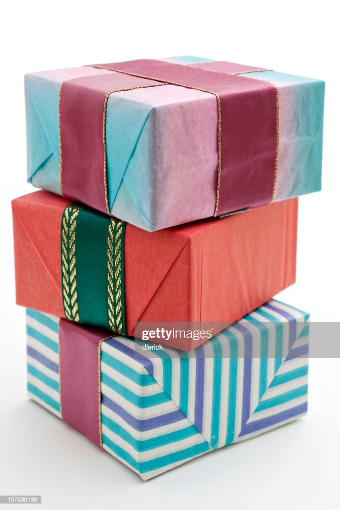 Stack of gift wrapped boxes stock photo getty images stack of gift wrapped boxes stock photo negle Images