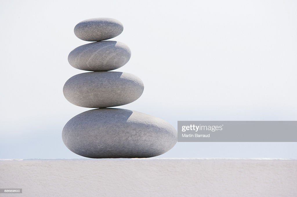 Stack of graduated stones : Stock Photo