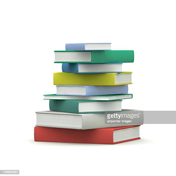 a stack of hardcover books - book stock pictures, royalty-free photos & images