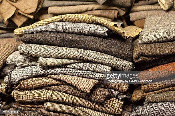 Stack of Harris Tweed-Outer Hebrides