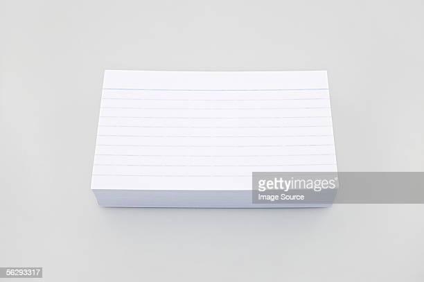 stack of index cards - インデックスカード ストックフォトと画像