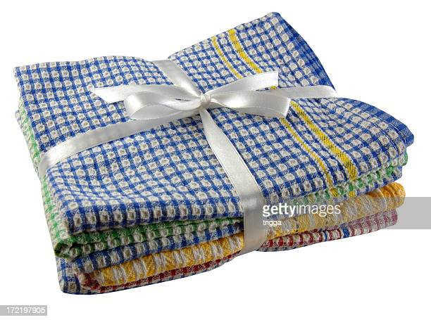 stack of kitchen towels - dish towel stock pictures, royalty-free photos & images