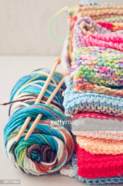 Stack of Knitted Wool