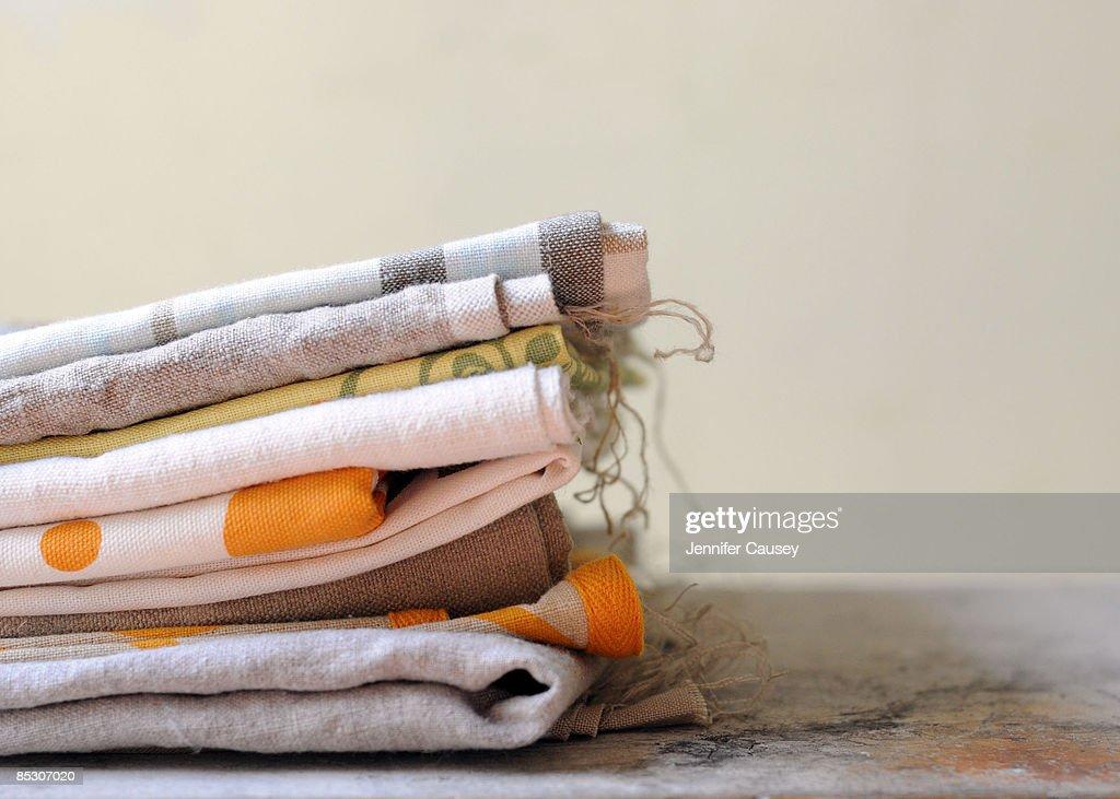 stack of linens : Stockfoto