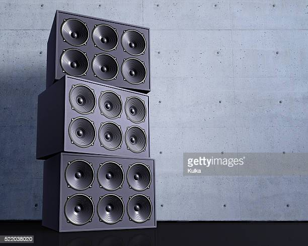 Stack of Loudspeakers