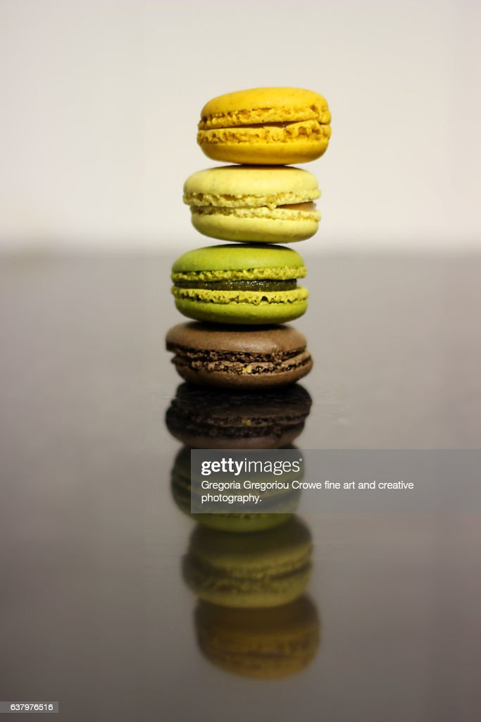 Stack Of Macaroons : Stock Photo