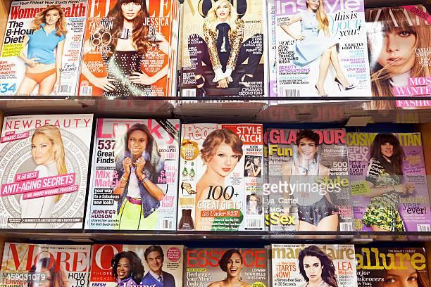stack of magazines # 7 xxl - manhattan magazine stock photos and pictures