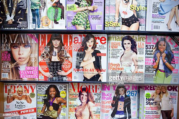 stack of magazines # 6 xxxl - manhattan magazine stock photos and pictures