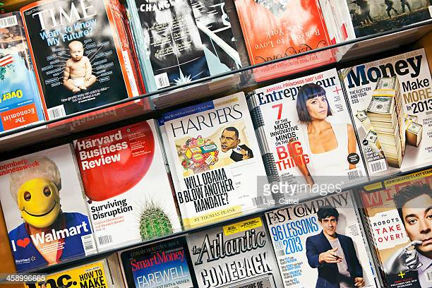 stack of magazines # 14 xxxl - magazine rack stock photos and pictures