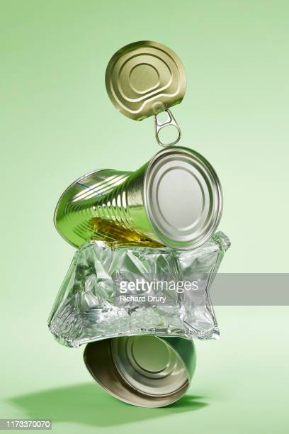 a stack of metal rubbish - responsibility stock pictures, royalty-free photos & images