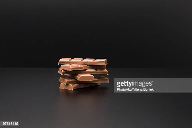 Stack of milk chocolate bars