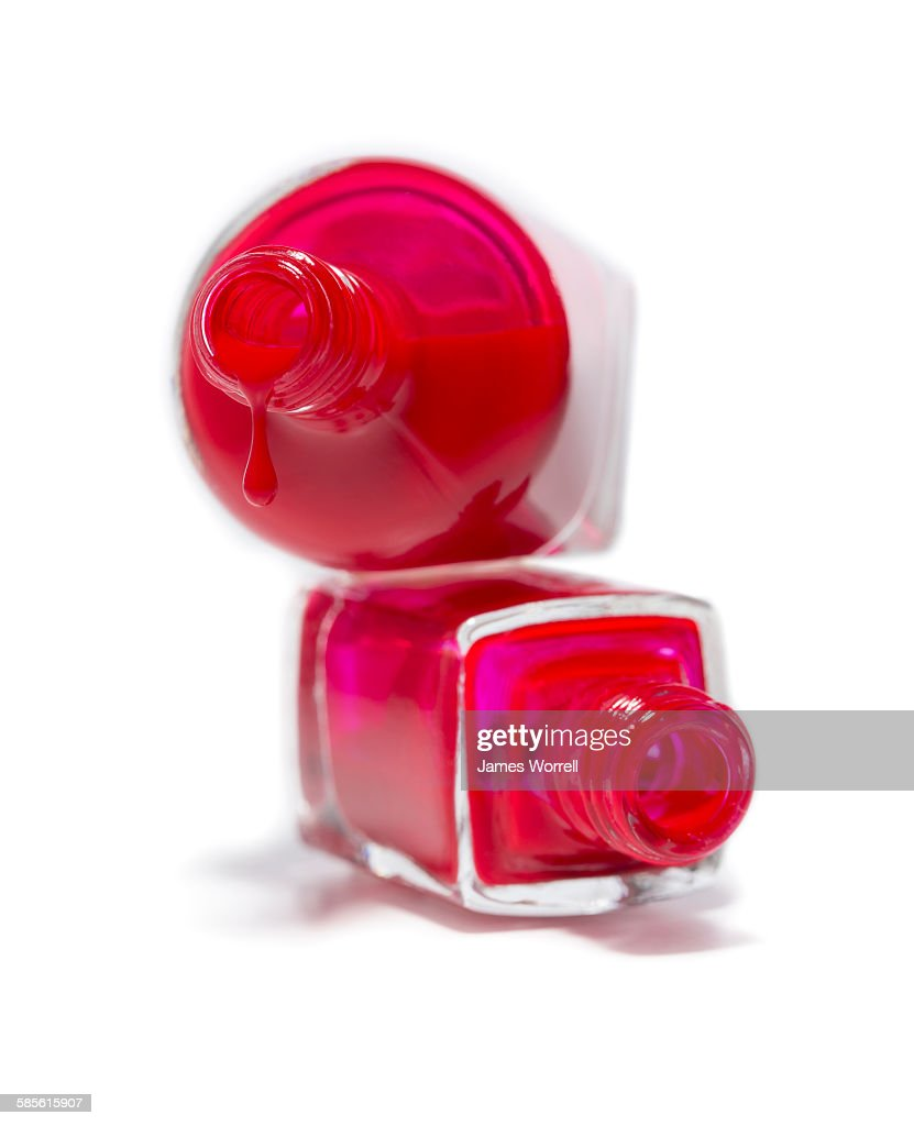 Stack Of Nail Polish Bottles With Drip Stock Photo | Getty Images