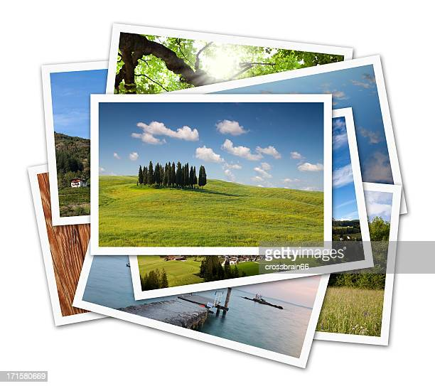 stack of nature and holiday photos - photograph stock pictures, royalty-free photos & images