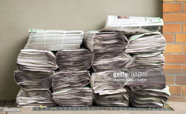 stack of newspapers - bundle stock pictures, royalty-free photos & images