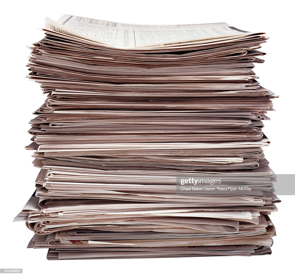 Stack of newspapers : Stock Photo