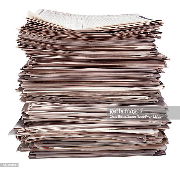 stack of newspapers - information overload stock pictures, royalty-free photos & images