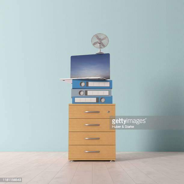 stack of office furniture - stability stock pictures, royalty-free photos & images