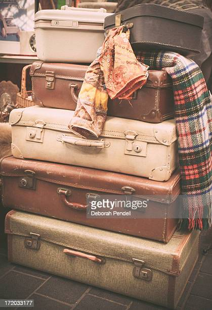 Stack of old suitcases