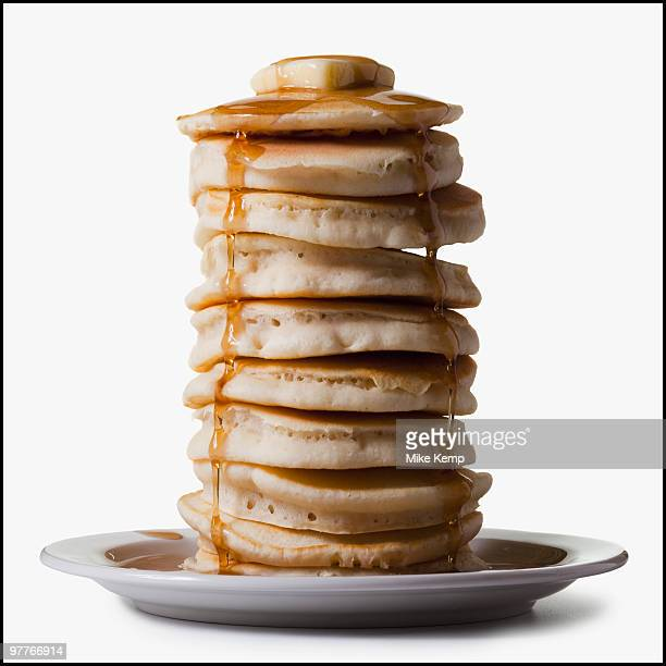stack of pancakes - pancake stock pictures, royalty-free photos & images