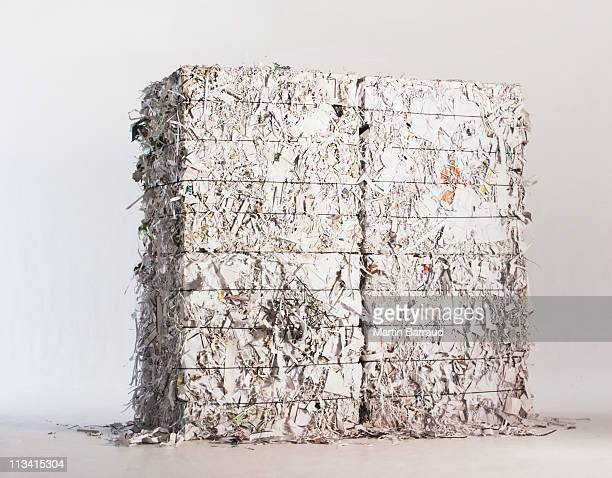 Stack of paper bales
